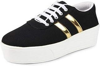 2ROW Women's Platform Black Sneakers