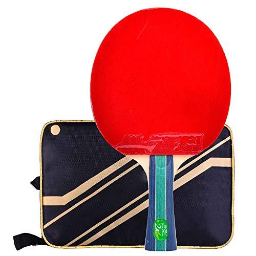Lerten Palas de Ping Pong,Bate de Tenis de Mesa Raqueta Ofensiva Profesional de 2 Estrellas,para Actividades Familiares, Escuelas Y Clubes Deportivos/A/mango largo