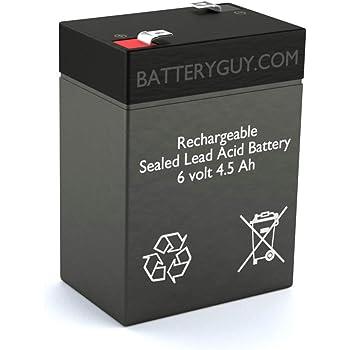 BatteryGuy Battery BG-645F1-6V 4.5AH Replacement for Shimastu NP4.5-6 Battery