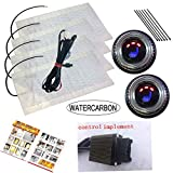 WATERCARBON 0027 12v Universal far Infrared Carbon Fiber Automobile Heated seat kit New Pattern Rotary 3-Gear Round Switch
