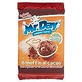 Mr. Day Muffin al Cacao con Pepite di Cioccolato, Pacco da 6 x 42g