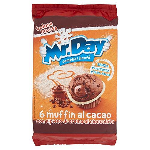 Mr. Day Muffin al Cacao con Pepite di Cioccolato, Pacco da 6...