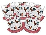 seidens - Juego de 5 Delantales para sillín de Pollo de algodón Duradero, fácil de elástico, para Aves de Corral de tamaño Mediano con Lazos y Volantes