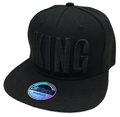 JameStyle26 King & Queen Snapback Set USA Cap Kappe Basecap Mütze Trucker Cappy Kult (King Black Edition)