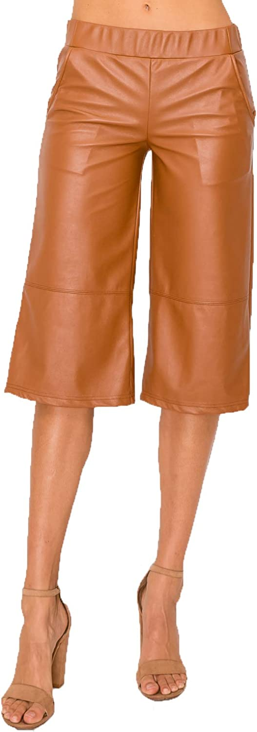 ZAMONG Women's Faux Pants Cash special Popular price Leather Crop