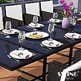 Swing & Harmonie Polyrattan Sitzgruppe Esstisch Lounge Sitzgarnitur Essgruppe Gartenmöbel Set - 4
