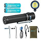 2 Batteries bundle Olight S2R Baton II 1150 Lumen Rechargeable LED Flashlight Side-switch EDC with Two customized 3200mAh 18650, USB Magnetic Charging Cable (MCC II) and LegionArms Sticker