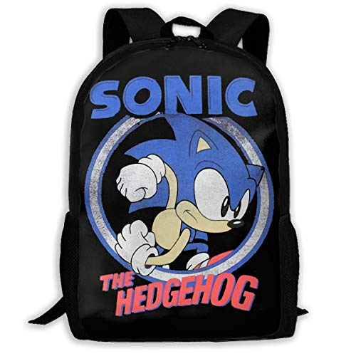 Lawenp Sonic The Hedghog Travel Laptop Backpack Canvas Casual Bookbag