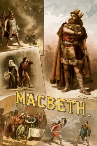 Macbeth Vintage Poster: 150 page lined notebook