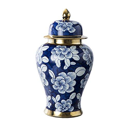 Peaceip Jingdezhen Dipinto a Mano Blu e Bianco Vaso di Ceramica Vaso Ornamenti in Stile Cinese Soggiorno Decorazioni per la casa
