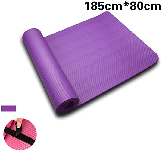 DENGSH Tapis d'exercice, tapis de mouvement polyvalent Pu et tapis de voyage antidérapant en caoutchouc naturel, facile à ranger Violet   1 15 mm.
