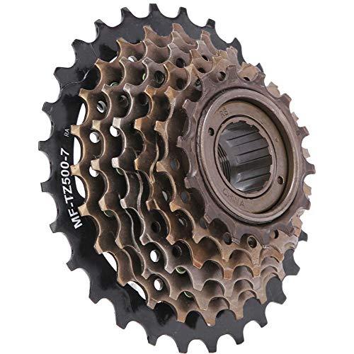 Vicfund Fahrrad Kassette Freilauf, TZ500-7 Mountainbike 7 Gang Kassette Freilauf Leicht Kassette Ersatz für 21-Gang Fahrrad