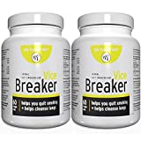 Vice Breaker: Quit Smoking for The Last Time. Works Fast - Stop Smoking Within 30 Days. Or Take with Nicorette, NicoDerm and Other Nicotine Gums, Patches or Lozenges.100% Natural & Herbal (2 Bottle)