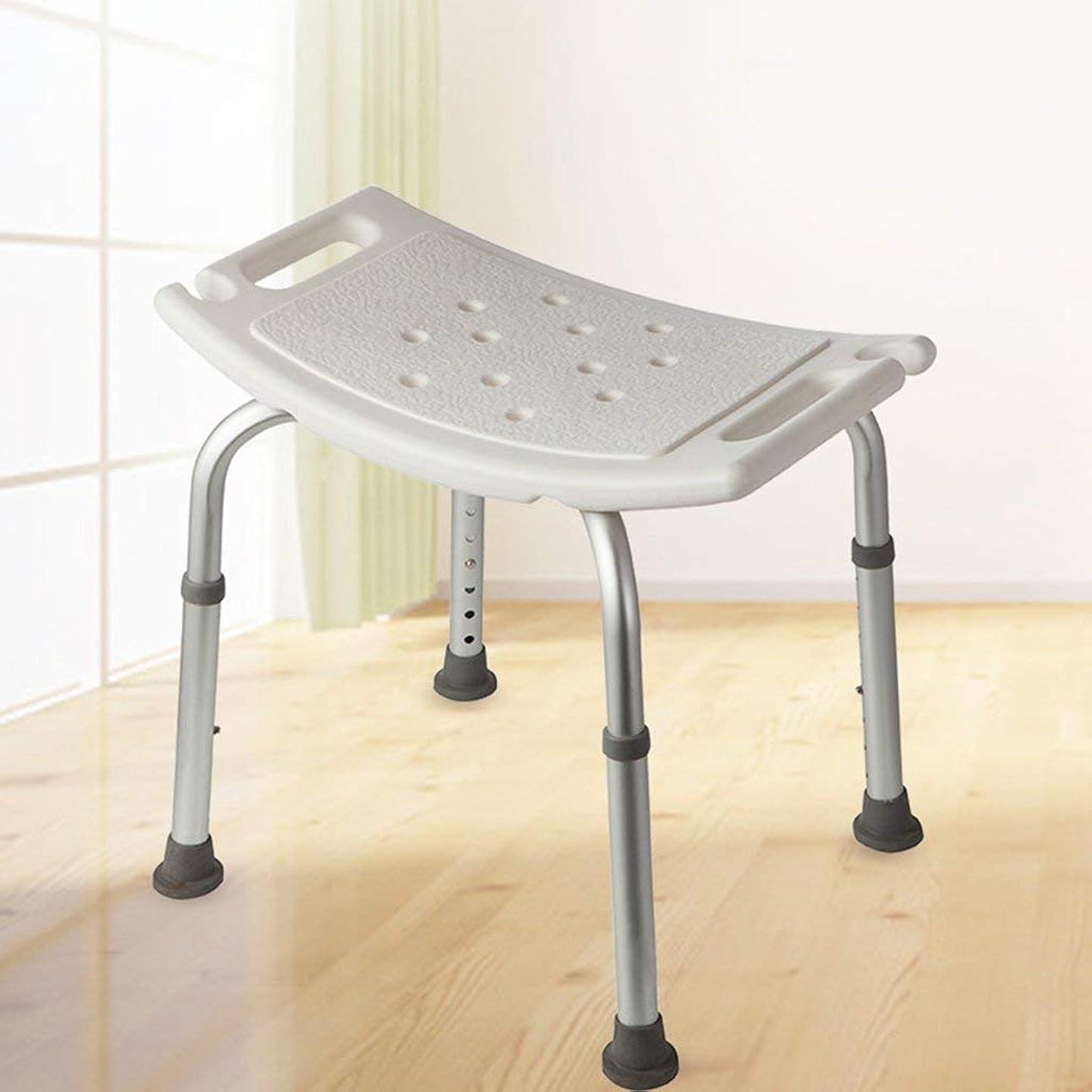 採用するサイレント不確実高さ調節可能、軽くてコンパクトで小さな椅子のシャワー、調節可能なシャワーチェア、バスベンチ、バスベンチ