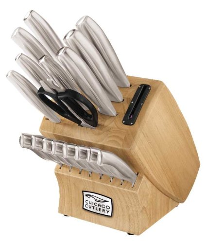 Chicago Cutlery 18-Piece Insignia Steel Knife Set with Block...