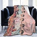 BTS Jimin J-Hope Manta súper suave manta súper suave, manta de felpa ligera, adecuada para adultos y niños para usar (BTS 3, 60 x 50 pulgadas)