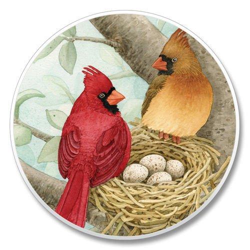 Highland Graphics Cardinals Nesting Auto Coaster 1 each