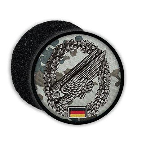 Copytec Patch Fallschirmjäger Barettabzeichen ISAF Bundeswehr Flecktarn Adler Deutschland BW Vetaran Wappen Aufnäher Uniform #20799