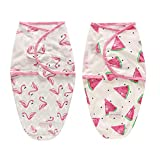 2er Baby Pucksack Pucktuch Pucktücher Wickeldecke Puckschlafsack Junge Mädchen Neugeboren 0-3 3-6 Monate (0-3 Monate, rosa)