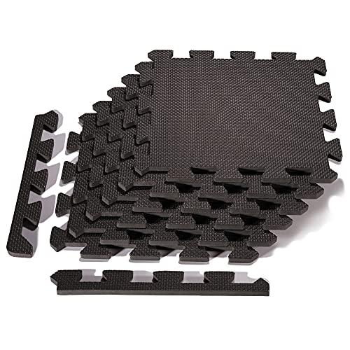 arteesol Schutzmatten Set - 18 Puzzlematten je 30x30x1cm,Premium Bodenschutzmatten Unterlegmatten Fitnessmatten für Sport Fitnessraum Fitnessgeräte Fitness Pool
