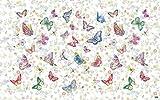 Vilber Kids Mariposas Alfombra, Vinilo, Multicolor, 75x120x0.2cm