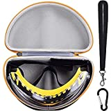 WELLGAIN Case Compatible with Dewalt DPG82-11/ DPG82-11CTR/ DPG82-21 Concealer Clear Anti-Fog Dual Mold Safety Goggle and Gateway 6980/ 6983 Cover2 Safety Glasses Protective Eye Wear (Box Only)