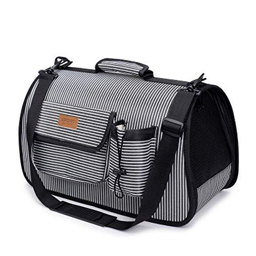 LCSD Hundebett Hund Rucksack Mode Haustier gepäck multifunktions falttasche Katze Hund heraus tragbare reisehandtasche (Color : Gray)