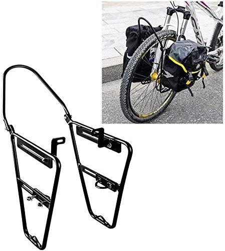 XIAOWANG Fahrrad Gepäckträger Fahrrad-Rack-Front Pannier für Mountainbikes - Alle Aluminium-Legierung - Federgabel Fit Träger - für Fahrräder