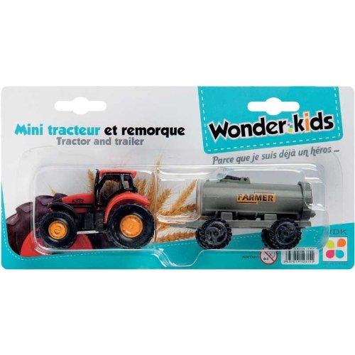 WDK PARTNER - A1200069 - Véhicules miniatures - Mini tracteur avec remorque - Modèle aléatoire