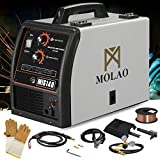 SUNCOO 140 MIG Welder Inverter DC Flux Core Wire Automatic Feed Welding Machine Gas/No Gas 115 Volt Grey