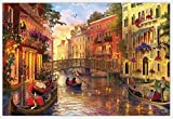 MMNALD Puzzles Rompecabezas De Paisajes De Venecia Rompecabezas De 1000 Piezas Rompecabezas De Madera Adultos Paisaje Rompecabezas Desarrollo Intelectual Juguetes-1500Pieces