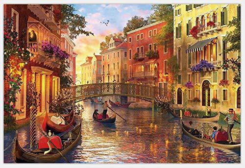MMNALD Puzzles Rompecabezas De Paisajes De Venecia