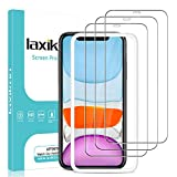laxikoo 3 Pack Protector Pantalla para iPhone 11 /iPhone XR (6,1''), 9H Dureza Cristal Templado con Marco de Instalación Fácil No Burbujas Alta Definicion Vidrio Templado iPhone 11 /XR - Transparente