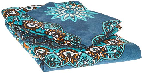 Bedding Set Linen Double Psychedelic Peacock Ombre Lotus 200x200cm Quilt Duvet Cover Paisley Mandala Nirvana Hippie Gypsy Indian African Ethnic Yoga Oriental Buddha Feng Shui Boho Green 164NZN28219