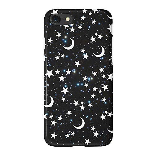 uCOLOR Matt Case Compatible iPhone 6S 6 iPhone 8/7 Cute Protective Case Star Moon Black Moon Stars Blue Glitter Slim Soft TPU Silicon Shockproof Cover Compatible iPhone 6s/6/7/8(4.7')