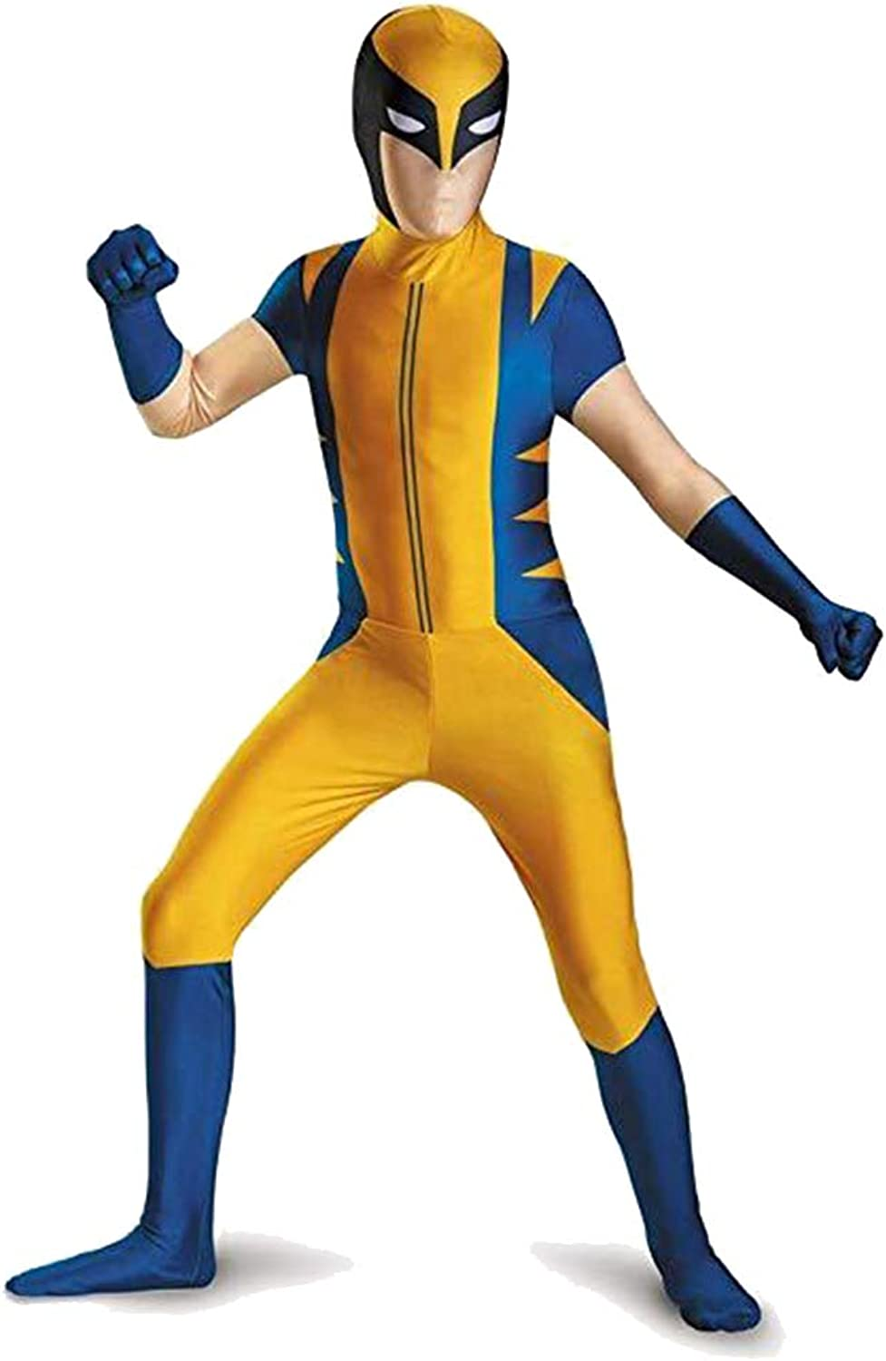SDKHIN Wolverine Siamese Costume cosplay Halloween Costume Party Party Clothing,Yellowadult XL