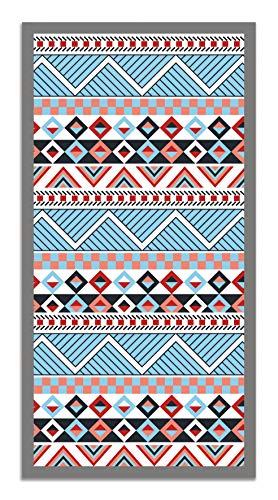 Panorama Tappeto Vinile Azteco Multicolore 60 x 110 cm - Tappeto da Cucina Antiscivolo - Tappeto Salotto - Tappeto Lavabile Ignifugo - Tappeto Grande - Tappeto PVC