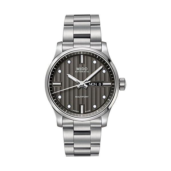 Mido Damen-Armbanduhr XS Multifort Analog Automatik Edelstahl M0050071106600 1