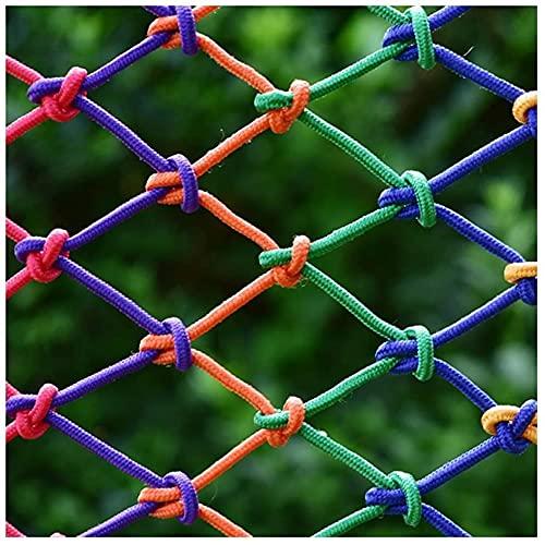 Red de seguridad para niños, red de escalada, red de cuerda decorativa de colores, red de pared para fotos, red de seguridad para exteriores, red Barandilla de balcón,4cm 4mm