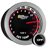 GlowShift Tinted Series 1500 F Pyrometer Exhaust Gas Temperature EGT Gauge Kit - Includes ...