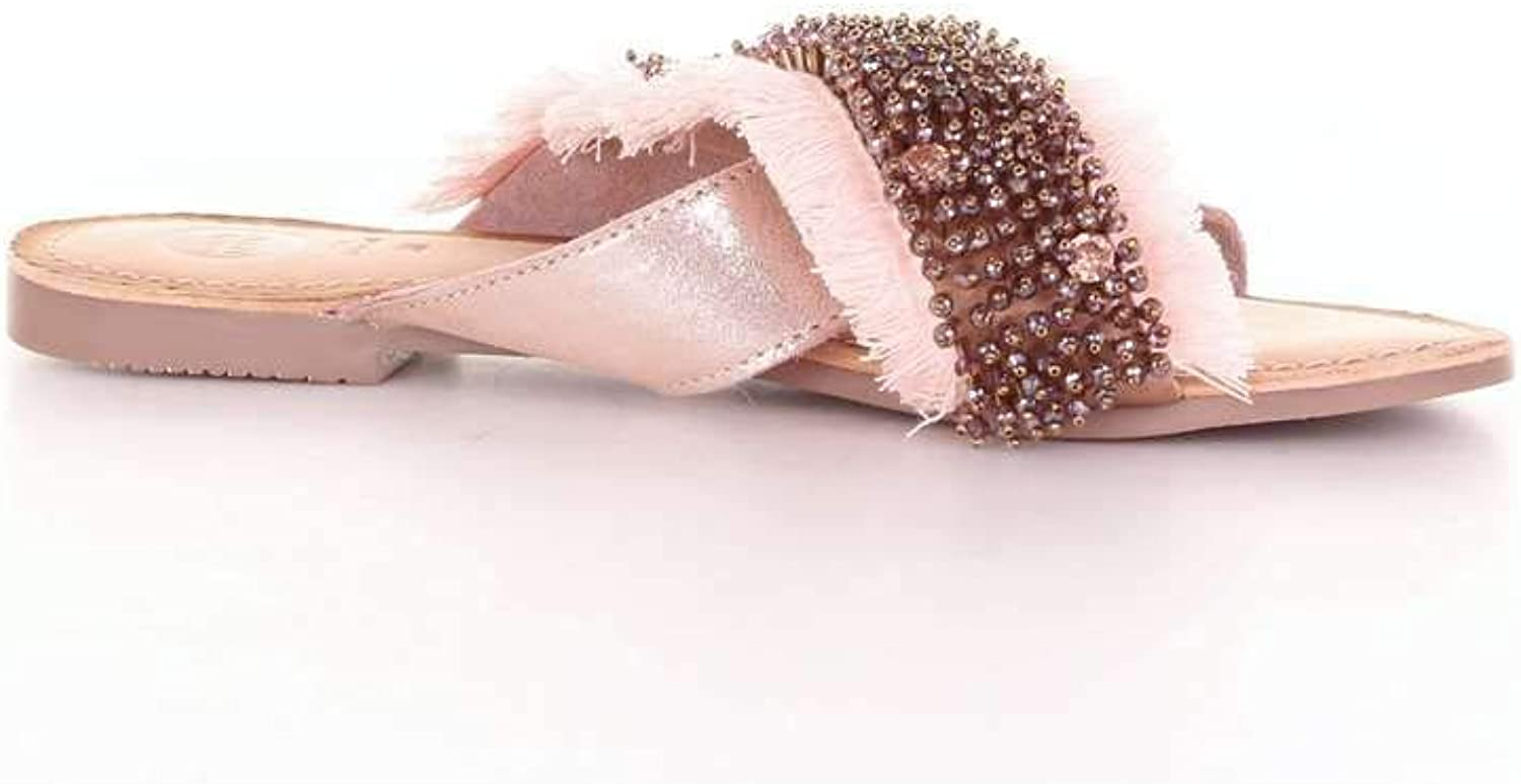 GIOSEPPO Women's 45307PINKgold Pink Leather Sandals