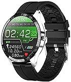 PHIPUDS,Reloj Inteligente Hombre, Smartwatch Mujer  Llamada Bluetooth  IP68 Impermeable con micrófono Altavoz, Realizar y Recibir Llamadas, Reloj Digital Fitness Tracker para Android iOS(Plata)