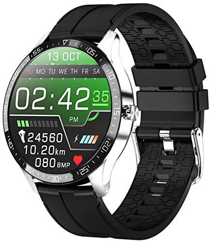 PHIPUDS,Reloj Inteligente Hombre, Smartwatch Mujer |Llamada Bluetooth| IP68 Impermeable con micrófono Altavoz, Realizar y Recibir Llamadas, Reloj Digital Fitness Tracker para Android iOS(Plata)