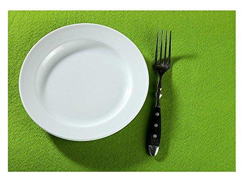 Feutre Dessous-de-Verre Feutre Set de Table rectangulaire 45 x 30 cm 4 pièces Guilde, Couleur : Vert