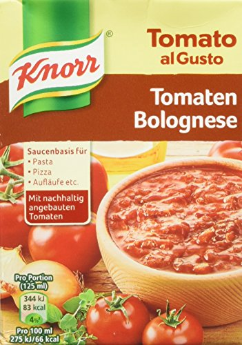 Knorr Tomato al Gusto Tomaten-Bolognese Soße, 1er-Pack (1 x 370 g)