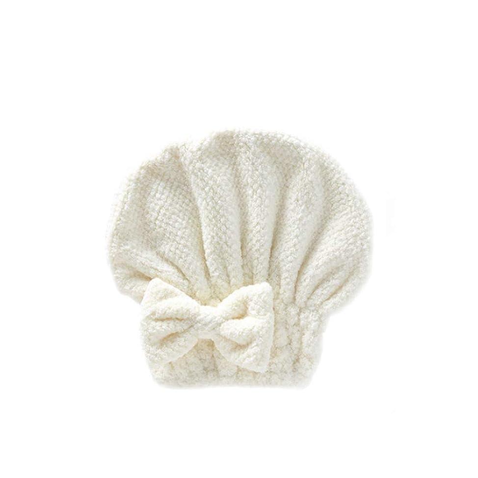 埋める損傷しゃがむJINSHANDIANLIAO シャワーキャップ、婦人用ドライシャワーキャップデラックスシャワーキャップ、髪の毛の長さと太さ、再利用可能なシャワーキャップ。 水 (Color : White)