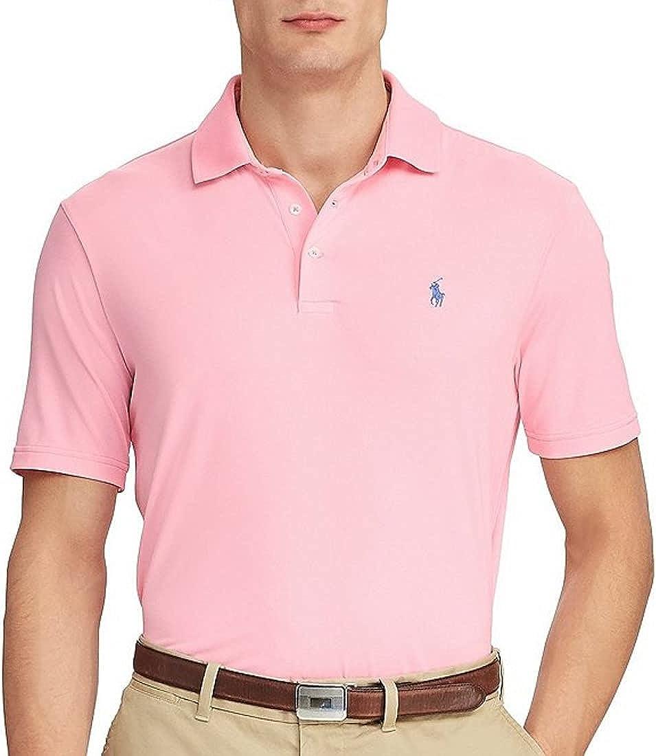Polo Ralph Lauren Mens Classic Fit Big Colored Pony Polo Shirt (3X Big, Taylor Rose, 3X)