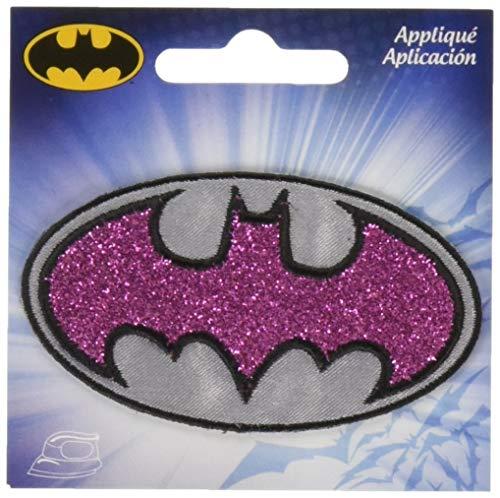 Simplicity Batgirl-Logo zum Aufbügeln, Polyester, Mehrfarbig, 7.62 x 7.62 x 0.28 cm