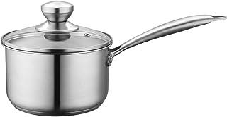 Olla JXLBB 304 Leche de Acero Inoxidable Mini Antiadherente hogar pequeña Fideos for cocinar suplemento for Alimentos for bebés Cocina de inducción Alemania Moldeado Integrado de Acero de