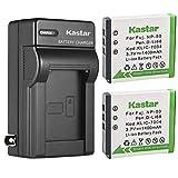 Kastar 2-Pack KLIC-7004 Battery and AC Wall Charger Replacement for Kodak KLIC-7004 K7004 Battery, Kodak K7700 Charger, Kodak Zi8, EasyShare V1233, EasyShare V1253, EasyShare V1273 Digital Camera
